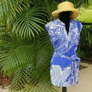 Liz Claiborne Tunic Women's Large Sapphire Multi